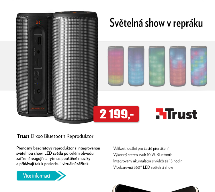 Bezdrátový Bluetooth reproduktor Trust Dixxo