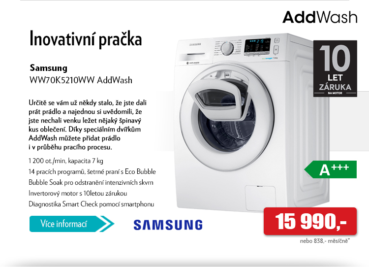 Pračka Samsung AddWash