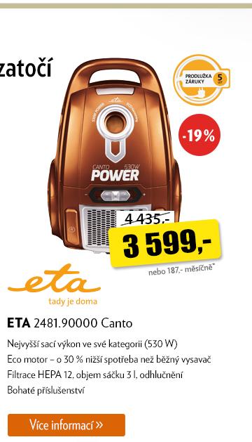 Vysavač ETA 2481.90000 Canto