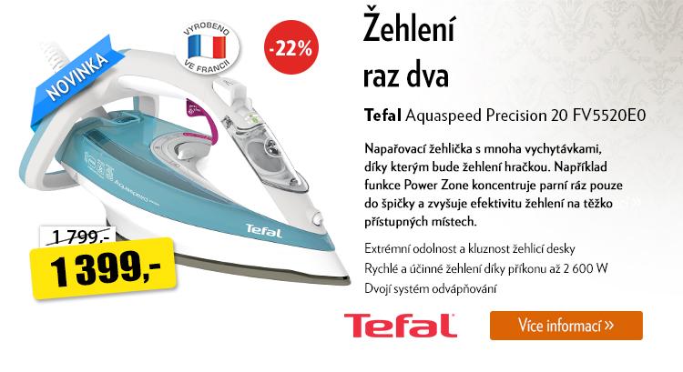Žehlička Tefal Aquaspeed Precision 20 FV5520E0