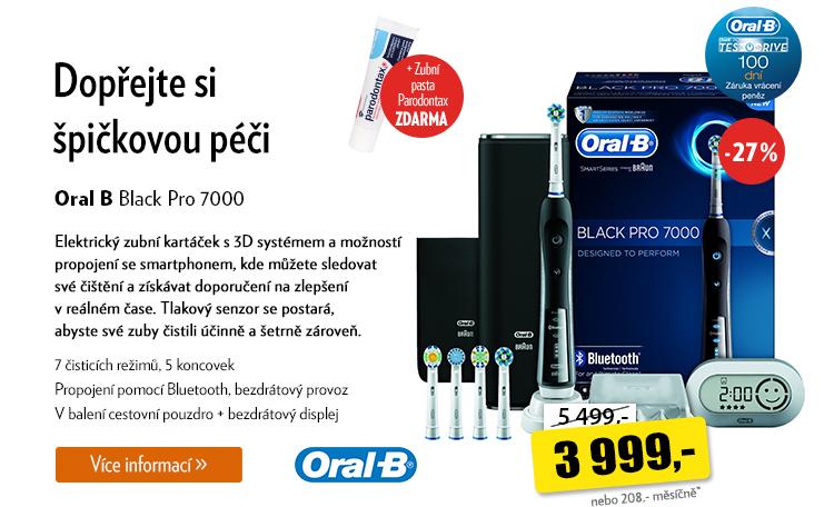 Elektrický kartáček Oral B Black Pro 7000