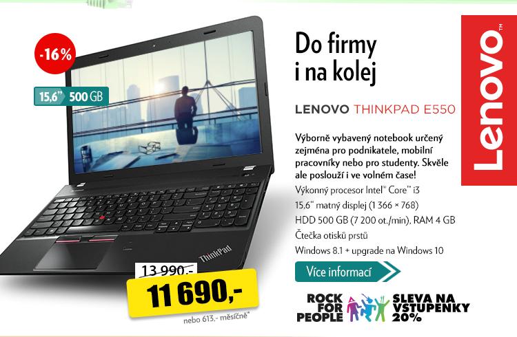 Notebook Lenovo Thinkpad E550