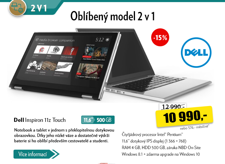Notebook Dell Inspiron 11Z Touch
