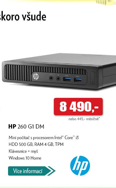 Mini počítač HP 260 G1 DM