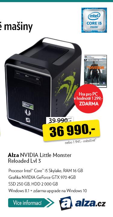 Počítač Alza NVIDIA Little Monster Reloaded Lvl 3