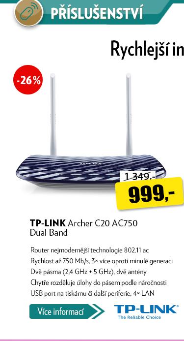 Router TP-LINK Archer C20 AC750 Dual Band