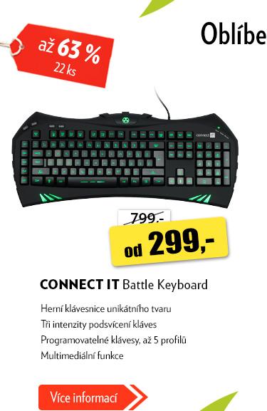Herní klávesnice Connect It Battle keyboard
