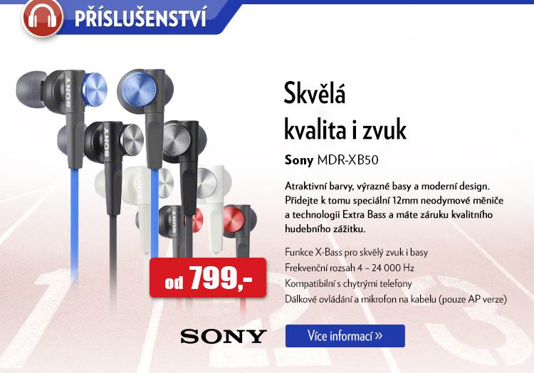 Sluchátka Sony MDR-XB50
