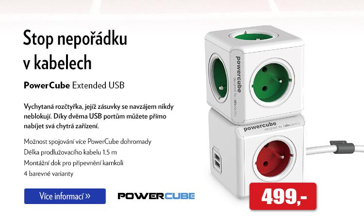 Rozčtyřka Power Cube Extended USB