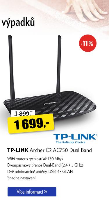 Wifi router TP-LLINK Archer C2 AC750 Dual Band