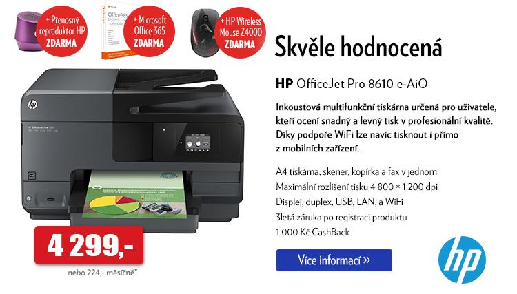 Tiskárna HP Office Jet Pro 8610 e-AiO