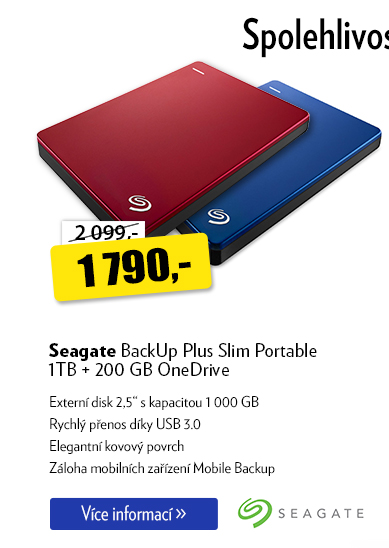 Externí disk Seagate BackUp Plus Slim Portable
