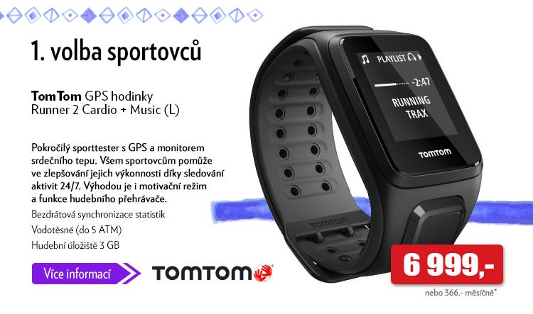 Sporttester TomTom GPS hodinky Runner 2 Cardio