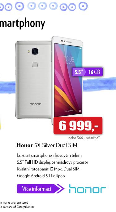 Smartphone Honor 5X Silver Dual SIM