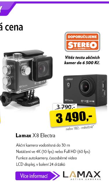 Vodotěsná kamera Lamax X8 Electra