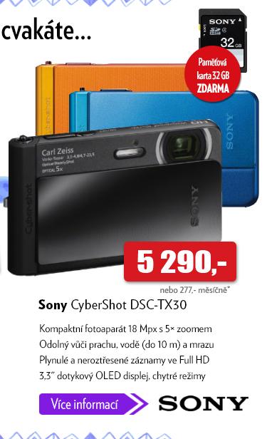 Fotoaparát Sony CyberShot DSC-TX30