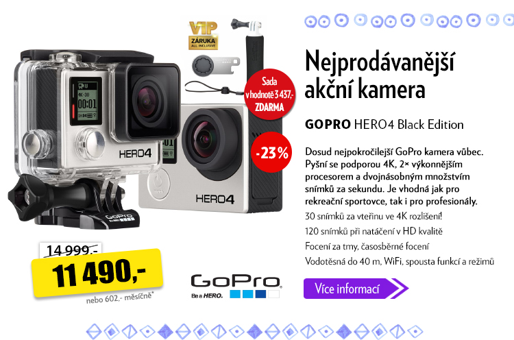 Akční kamera GoPro HERO 4 Black Edition