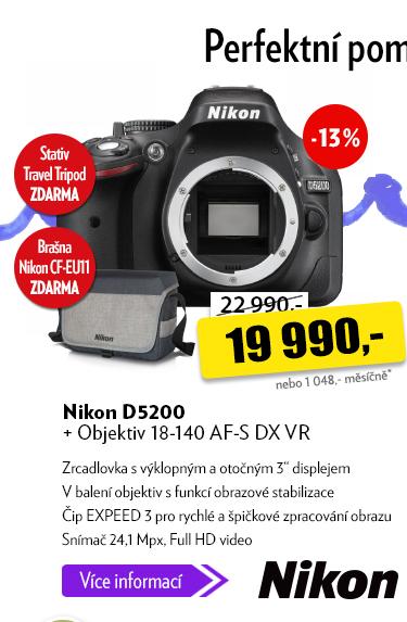 Zrcadlovka Nikon D5200