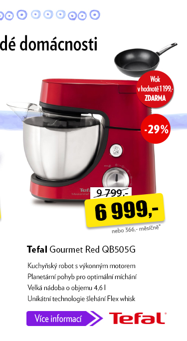Kuchyňský robot Tefal Gourmet Red QB505G