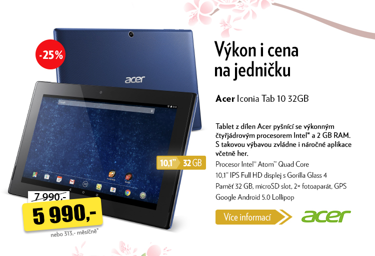 Tablet Acer Iconia Tab 10
