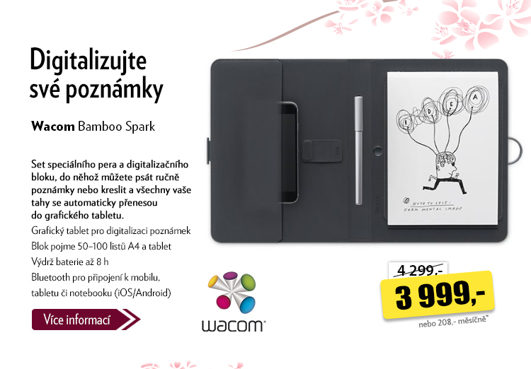 Digitalizační blok Wacom Bamboo Spark