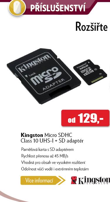 Paměťová karta Kingston Micro SDHC