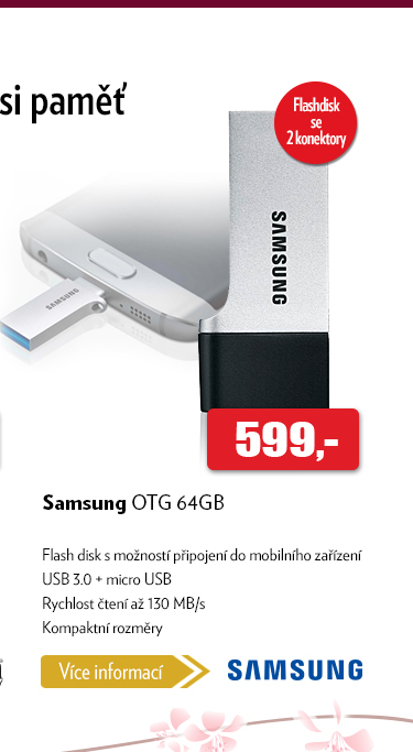 Falsh disk Samsung OTG 64GB