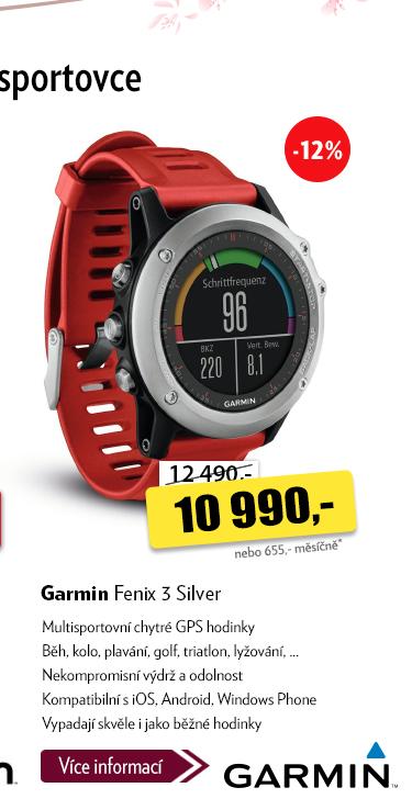 GPS chytré hodinky Garmin Fenix 3 Silver