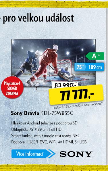 Televize Sony Bravia KDL-75W855C