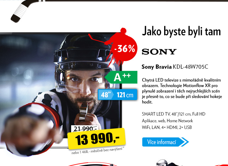 Televize Sony Bravia KDL-48W705C