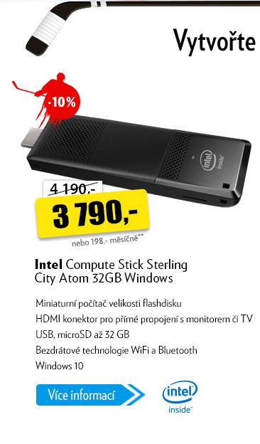 Mini počítač Intel Compute Stick Sterling City Atom