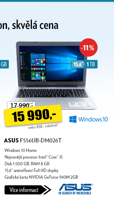 Notebook ASUS F556UB-DM026T
