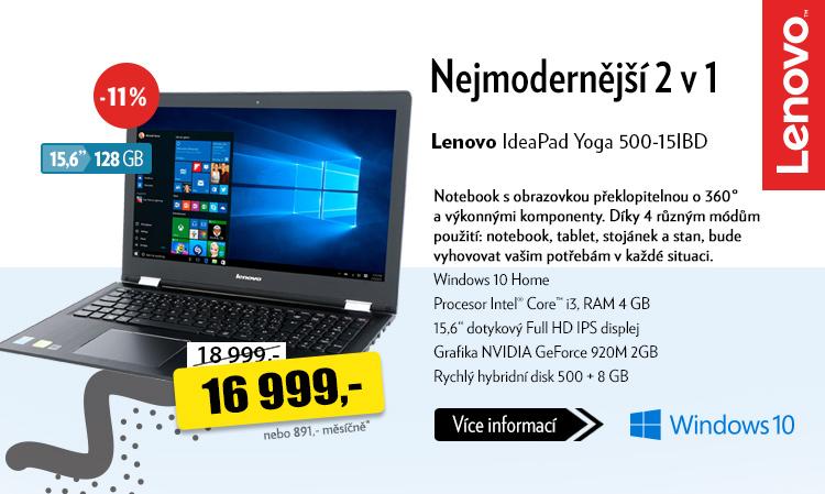 Notebook Lenovo IdeaPad Yoga 500-15IBD