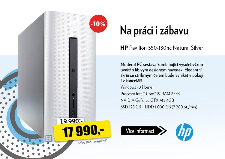 Počítač HP Pavilion 550-130nc