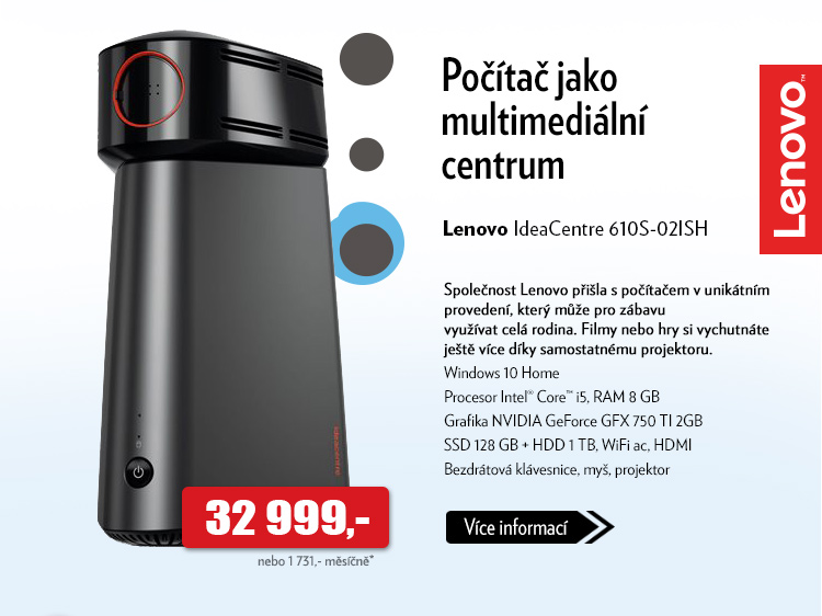 Počítač Lenovo IdeaCentre 610S-02ISH