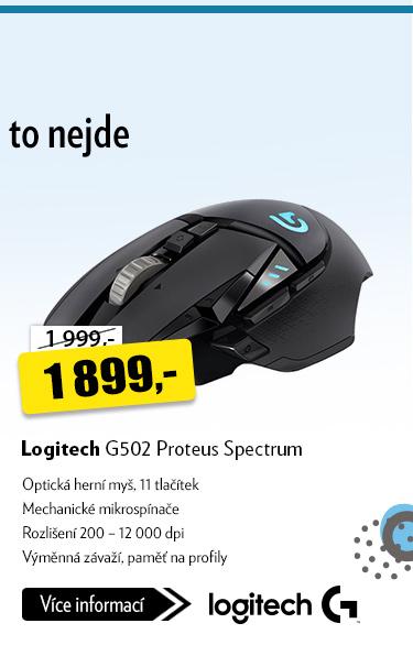 Optická herní myš Logitech G502 Proteus Spectrum