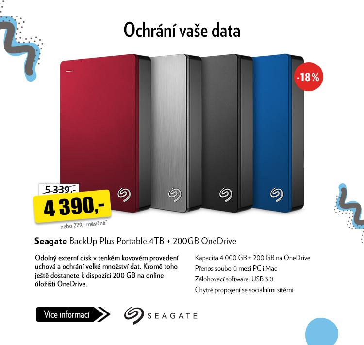 Externí disk Seagate BackUp Plus Portable 4TB