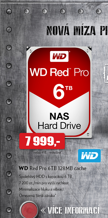 WD Red Pro 6TB 128MB cache