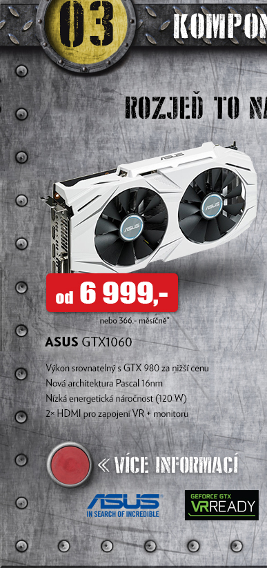 grafické karty GTX1060 ASUS