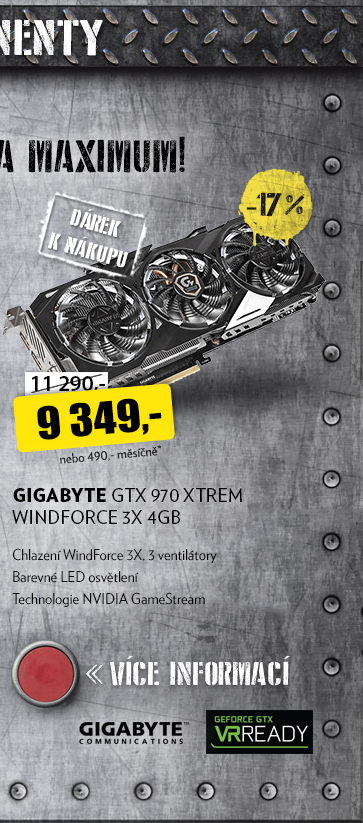GIGABYTE GTX 970 XTREM WINDFORCE 3X 4GB