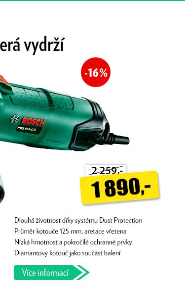 Bruska Bosch PWS 850-125