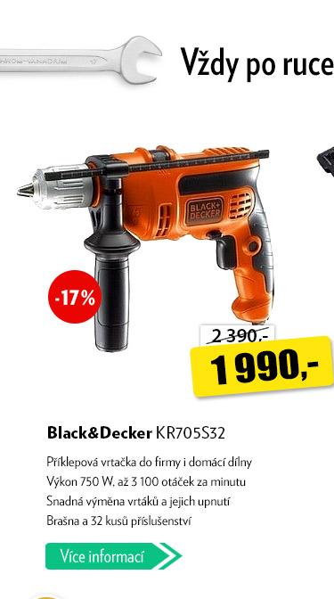 Příklepová vrtačka Black&Decker KR05S32