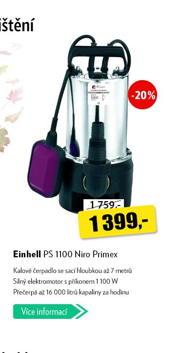 Kalové čerpadlo Einhell PS 1100 Niro Primex