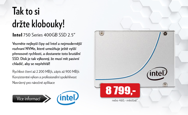 SSD disk Intel 750 Series 400GB