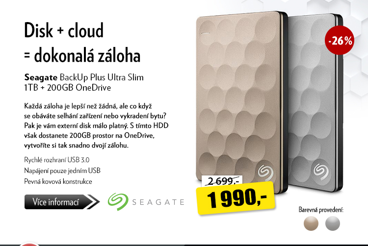 Disk Seagate BackUp Plsu Ultra Slim 1TB