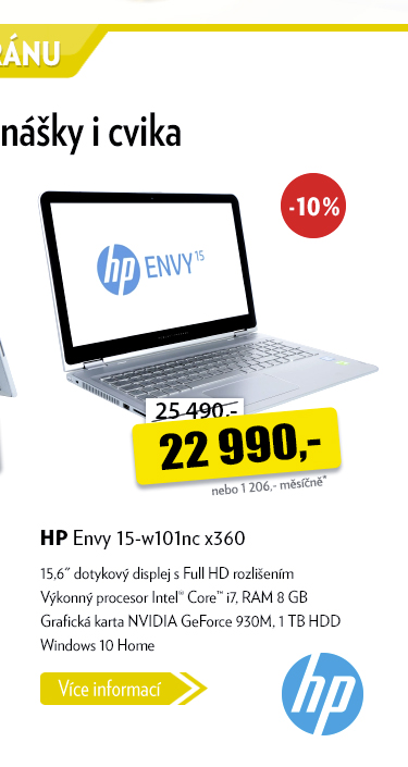 Notebook HP Envy 15-w101nc