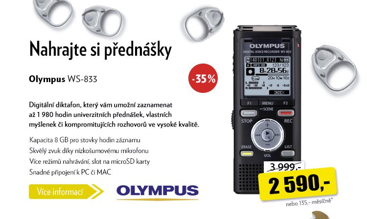 Digitální diktafon Olympus WS-833