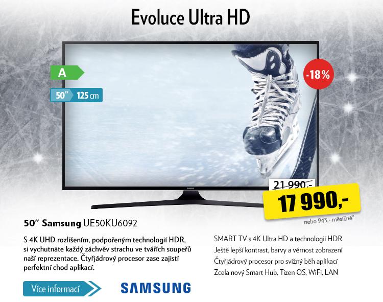 TV Samsung UE50KU6092