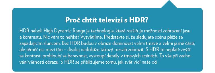 Proč chtít HDR?