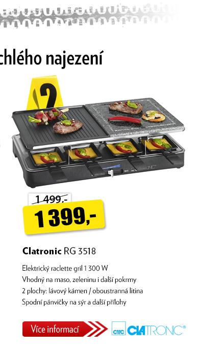 Elektrický gril raclette CLATRONIC RG 3518